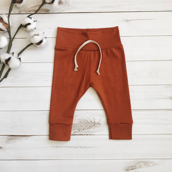 Rust - Solid Leggings