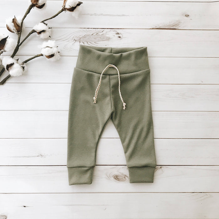 Olive - Solid Leggings