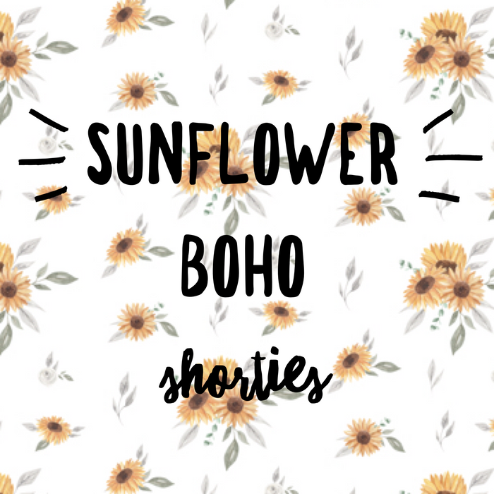 Boho Shorties - Sunflowers