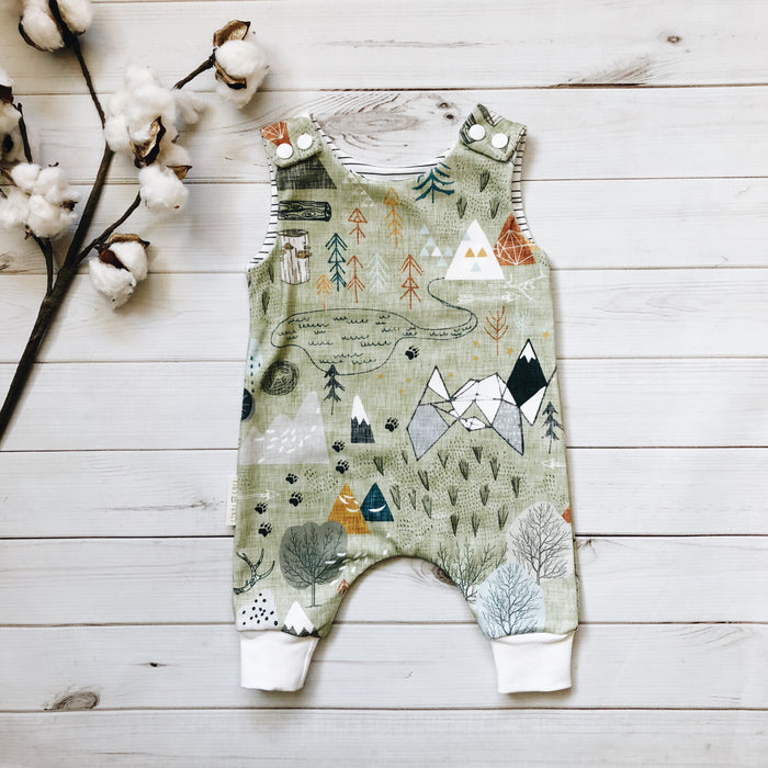 Adventure Map Romper