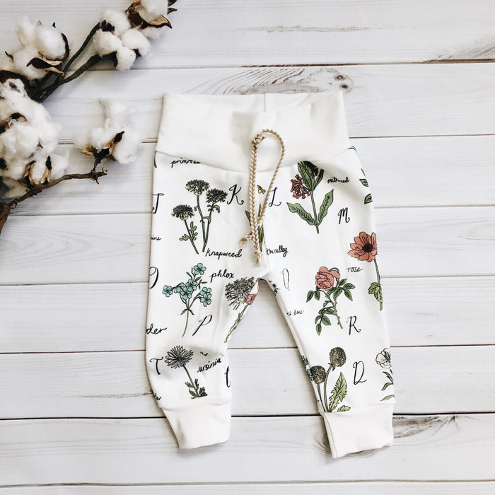 Botanical Alphabet Leggings