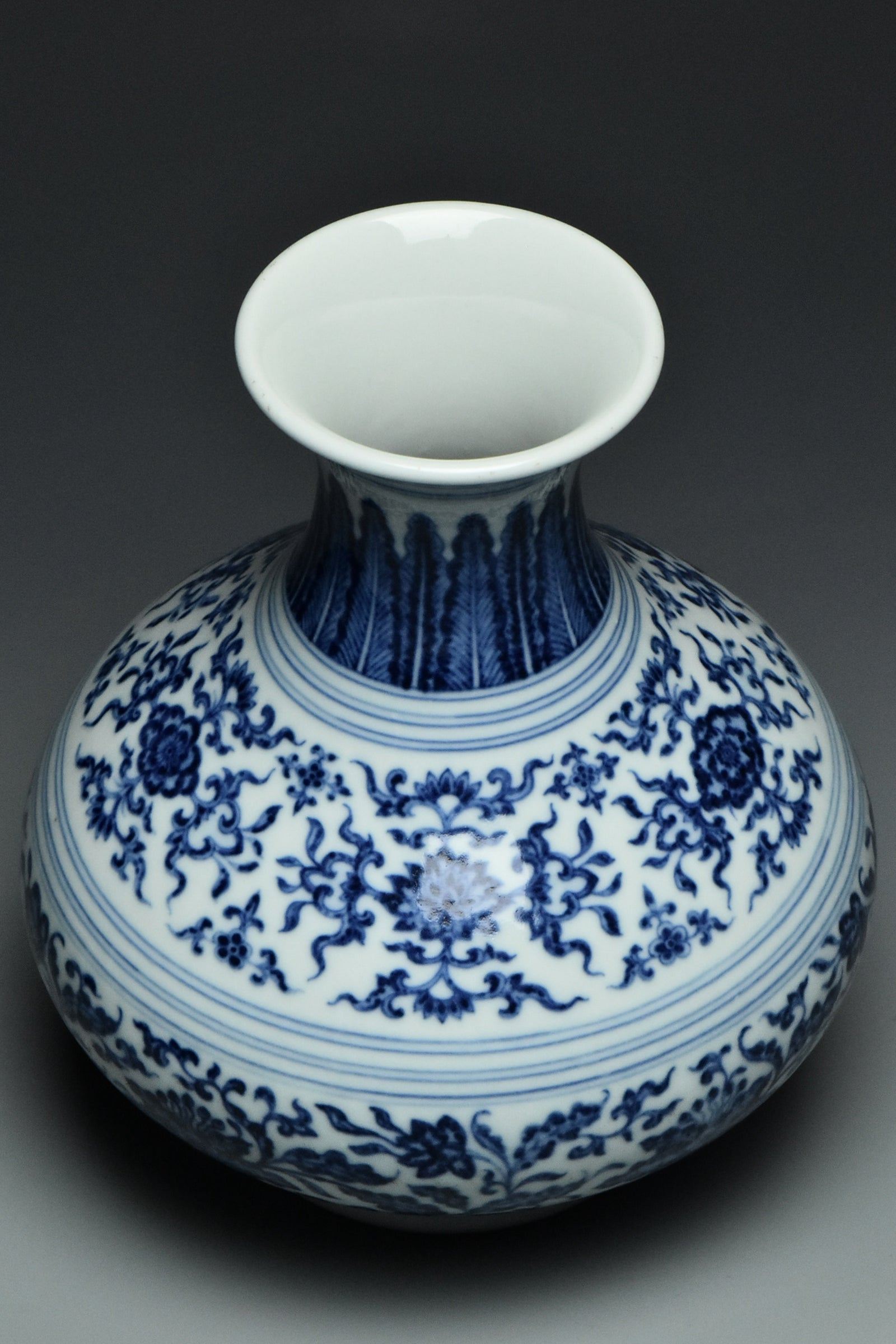 001: A BLUE AND WHITE VASE YONGZHENG MARK AND PERIOD