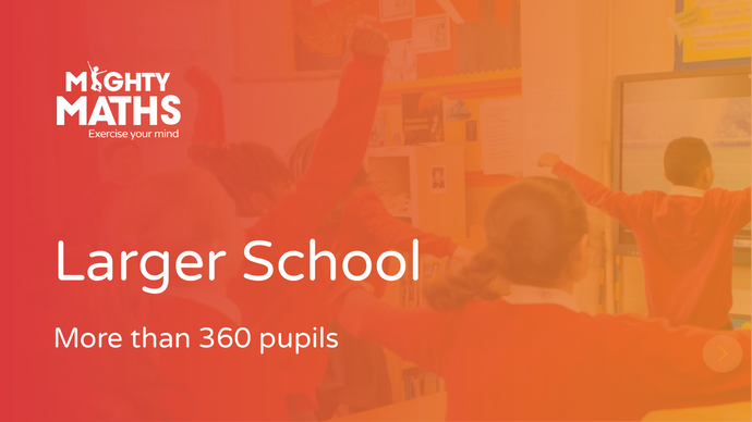 Mighty Maths: larger school (more than 360 pupils)