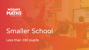 Mighty Maths: smaller school (less than 180 pupils)