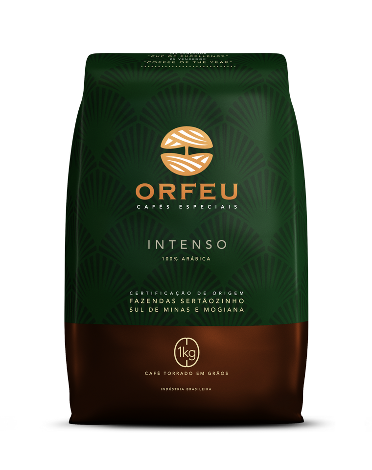 Brazilian specialty coffee ORFEU INTENSO (roasted beans), 1Kg