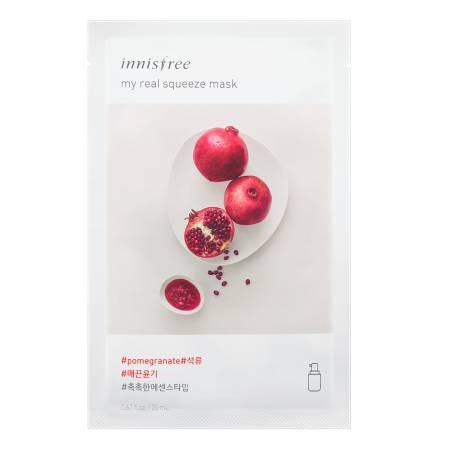 INNISFREE MY REAL SUQEEZE MASK #POMEGRANATE 20ml