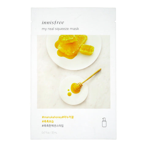 INNISFREE MY REAL SUQEEZE MASK #MANUKA HONEY 20ml