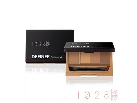 1028 VISUAL THERAPY DEFINER EYEBROW KIT 01 WARM BROWN