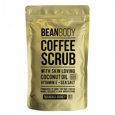 BEAN BODY COFFEE SCRUB MANUKA HONEY 220g
