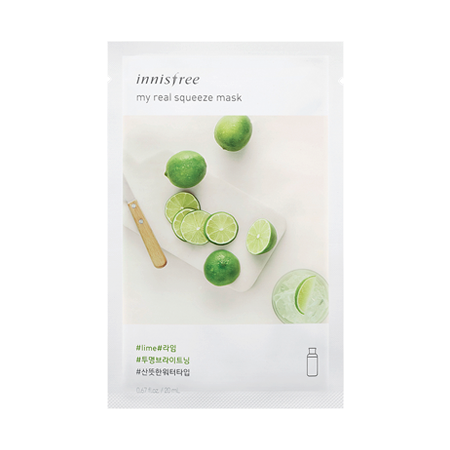 INNISFREE MY REAL SUQEEZE MASK #LIME 20ml
