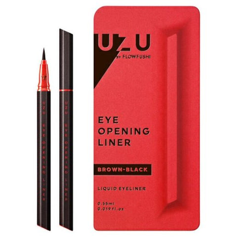 UZU EYE OPENING LIQUID EYELINER #BROWN-BLACK 0.55ml