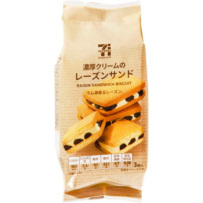 SEVEN & I PREMIUM RAISIN SANDWICH BISCUIT 3PCS