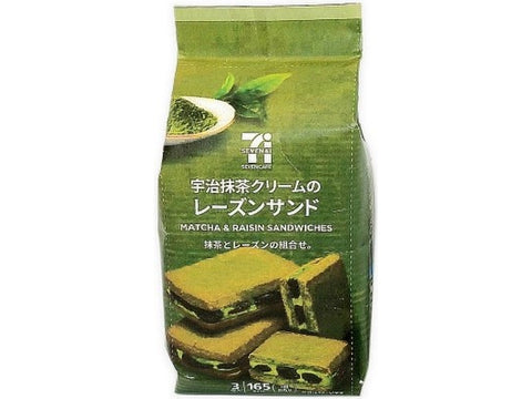 SEVEN & I PREMIUM MATCHA & RAISIN SANDWICHES 3PCS
