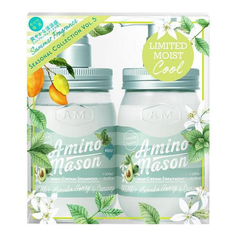 AMINO MASON MINT SHAMPOO & TREATMENT SUMMER FRAGRANCE SEASONAL COLLECTION VOL.5 LIMITED MOIST 450ml x2