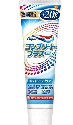 AQUA FRESH COMPLETE PLUS WHITENING CARE TOOTHPASTE #NEW AQUA FRESH ZO3 160g
