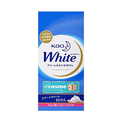 KAO WHITE SOAP AROMATIC MILK 85g 6PACKS