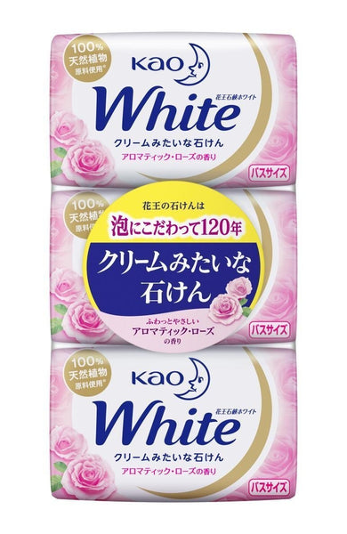 KAO WHITE SOAP AROMATIC ROSE 130g 3PACKS
