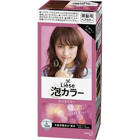KAO LIESE PRETTIA HAIR COLOR FOAM #CASSIS BERRY