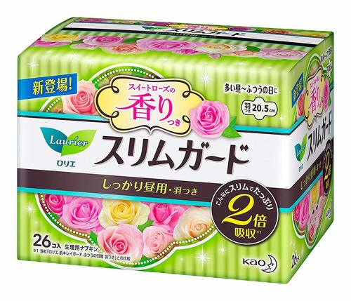 KAO LAURIER 20.5CM DAY SWEET ROSE 26PCS (GREEN)