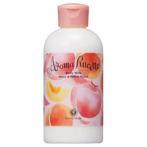 HOUSE OF ROSE AROMA RUCETTE BODY MILK #WHITE & YELLOW PEACH 200ml