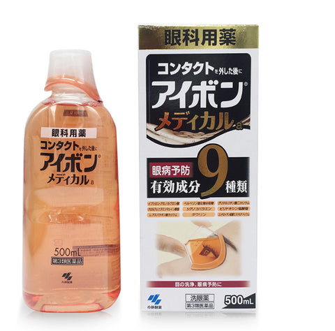 KOBAYASHI EYEBON MEDICAL EYE WASH LIQUID 500ml (BLACK)
