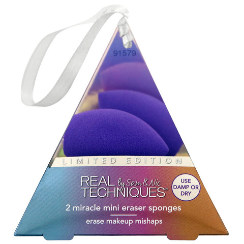 REAL TECHNIQUES 2 MIRICLE MINI ERASER SPONGES LIMITED EDITION