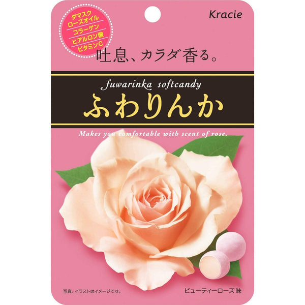 KRACIE SOFT CANDY ROSE FLAVOR 32g