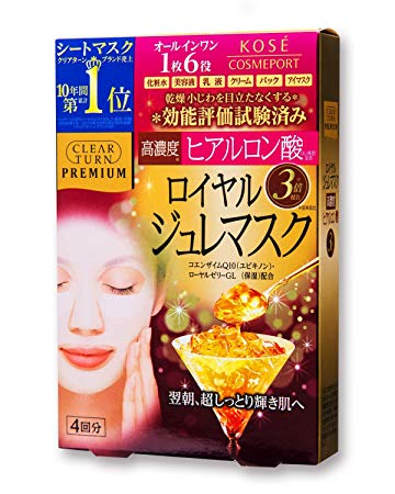 CLEAR TURN PREMIUM HYALURONIC ACID ROYAL JELLY MASK 4PCS PINK