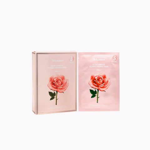 JMSOLUTION GLOW LUMINOUS FLOWER FIRMING MASK ROSE 1PC