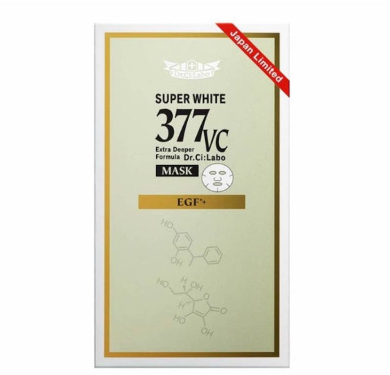 DR CILABO SUPER WHITE 377 VC MASK EGF+ 5PCS