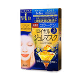 KOSE CLEAR TURN PREMIUM COLLAGEN ROYAL JELLY MASK 4PCS BLUE
