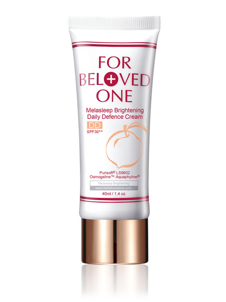 FOR BELOVED ONE MELASLEEP BRIGHTENING DAILY DEFENCE CREAM SPF30 PEACH 40ml
