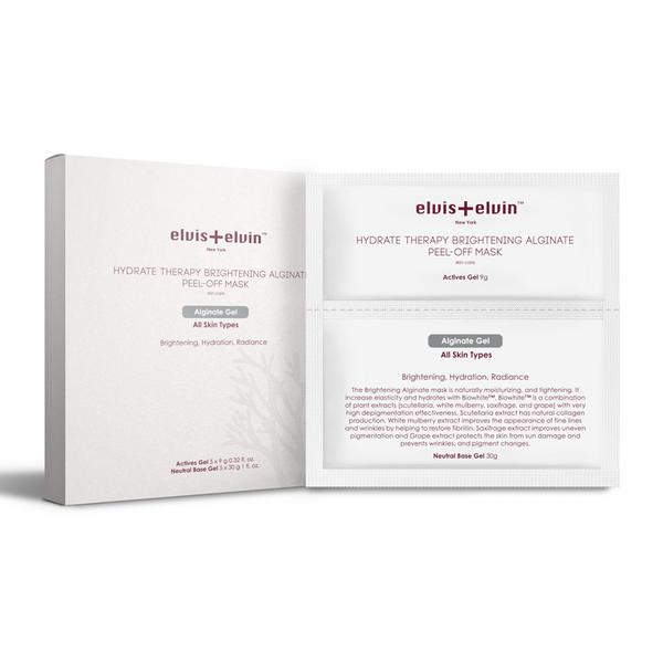ELVIS+ELVIN NEW YORK HYDRATE THERAPY BRIGHTENING ALGINATE PEEL-OFF MASK 5SETS