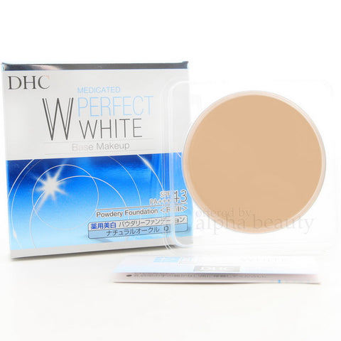 DHC MEDICATED PERFECT WHITE BASE MAKEUP POWDER FOUNDATION REFILL SPF43 PA+++ NATURAL OCHER 02 10g