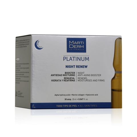 MARTIDERM LA FORMULA PLATINUM NIGHT RENEW 30AMP. 2ml