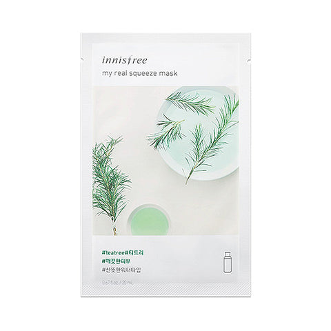 INNISFREE MY REAL SUQEEZE MASK #TEA TREE 20ml