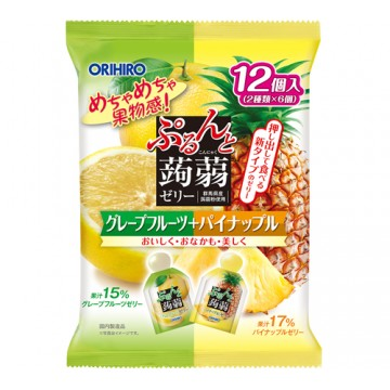 ORIHIRO GRAPEFRUIT & PINEAPPLE JELLY 12PCS