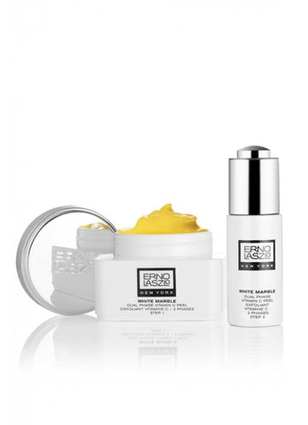 ERNO LASZLO NEW YORK WHITE MARBLE DUAL PHASE VITAMIN C PEEL SET 50ml & 20ml
