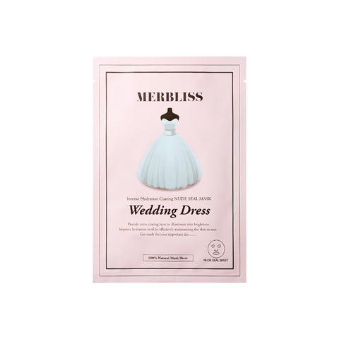 MERBLISS WEDDING DRESS INTENSE HYDRATION COATING NUDE SEAL MASK 1PC