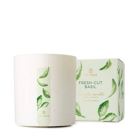 THYMES FRESH-CUT BASIL AROMATIC CANDLE 227g