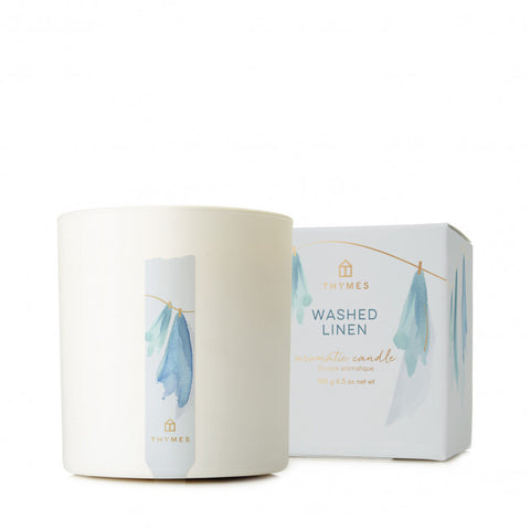 THYMES WASHED LINEN CANDLE 227g