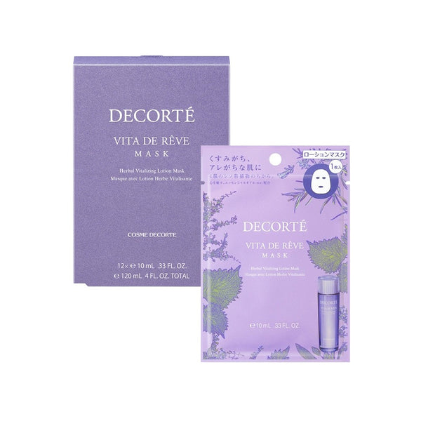 COSME DECORTE VITA DE REVE MASK HERBAL VITALIZING LOTION MASK 12PCS
