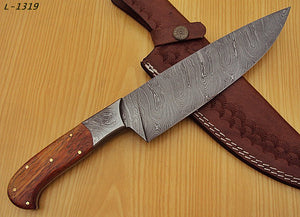 RK-L -1319- Damascus Steel Chef Knife – Marindi Wood Handle - Best Quality Guaranteed.