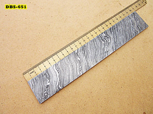 DBS-651, Custom Handmade Damascus Steel Billet Knife / Blank Blade Making Bar