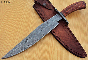 "REG-L-1330- Custom Handmade Damascus Steel- 15.0"" Inches Hunting Knife"