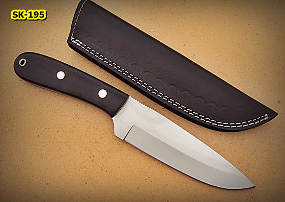 Sk-195, Custom Handmade 440c Stainless Steel Knife –  Canvas Micarta Handle