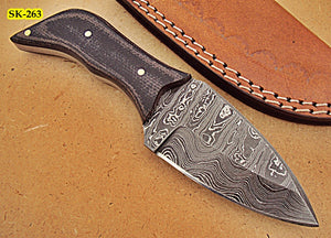 SK-263, Custom Handmade Damascus Steel Knife – Two Tone Micarta Handle
