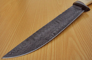"REG-L-1310- Custom Handmade Damascus Steel 15.1"" Inches Hunting Knife."