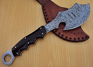 "AH-BAX-72- Custom Handmade Damascus Steel 12.2"" Inches Hunting Knife."