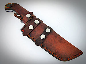 TR-1097, Custom Handmade DEMASCUS STELL Tracker Knife – Two Tone Dollar Sheath Handle